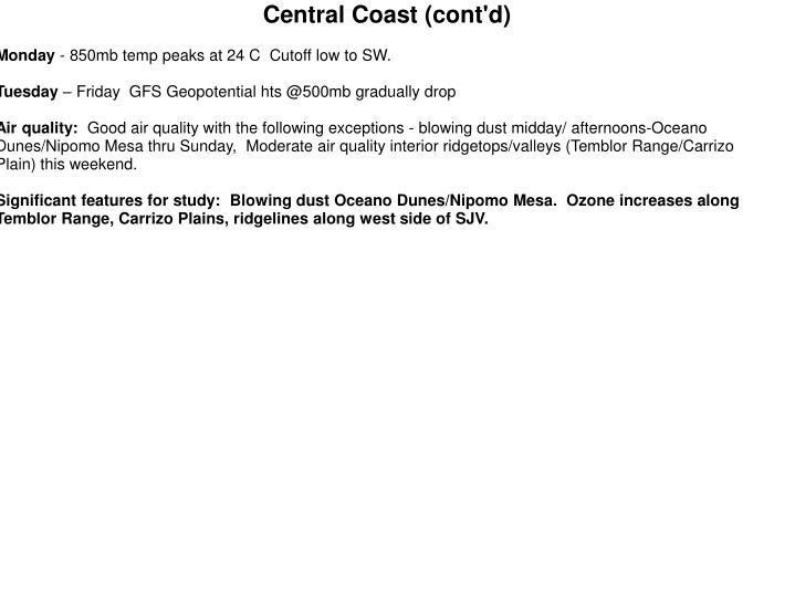 Central Coast (cont'd)