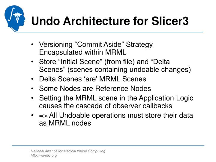Undo Architecture for Slicer3