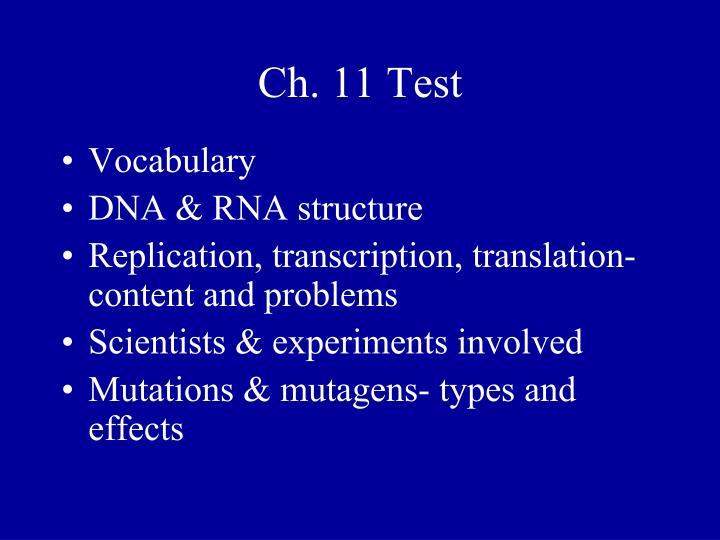 Ch. 11 Test
