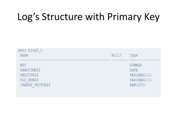 Log's Structure with Primary Key