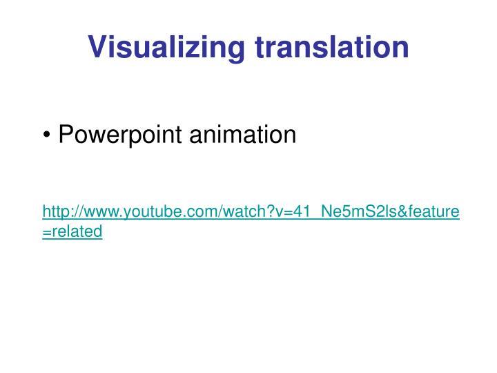 Visualizing translation