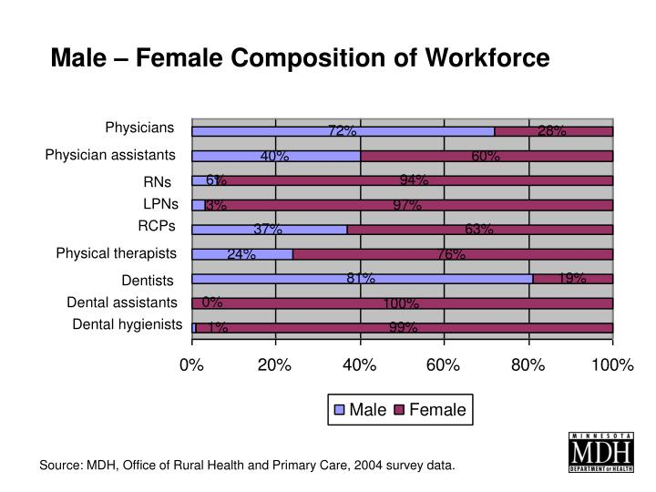Male – Female Composition of Workforce