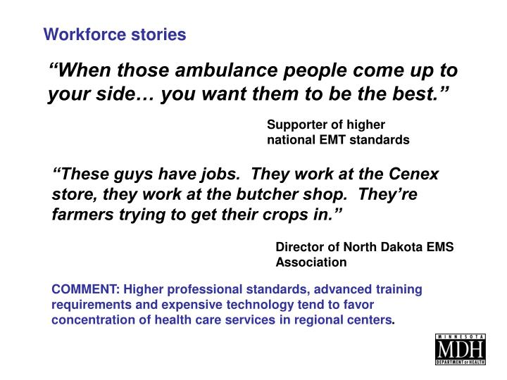 Workforce stories