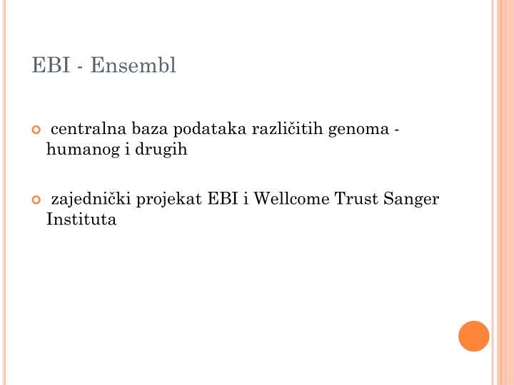 EBI - Ensembl