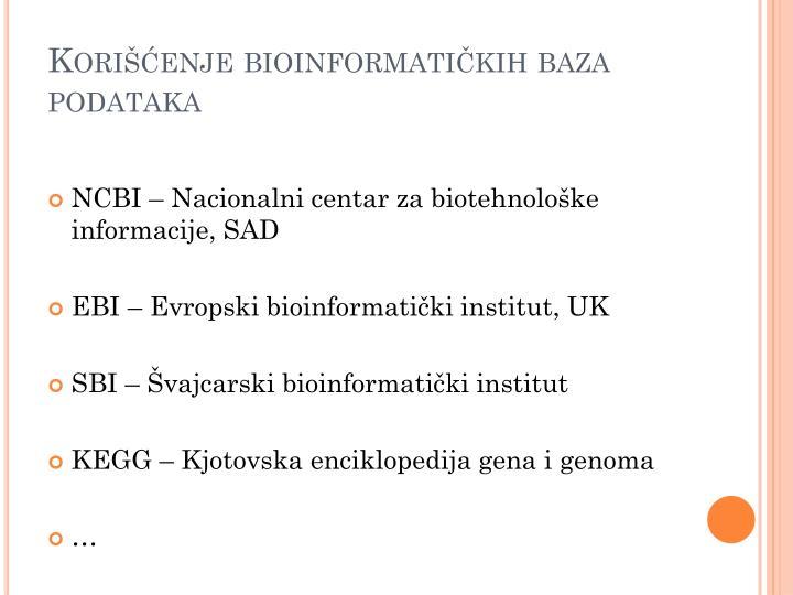 Korišćenje bioinformatičkih baza podataka