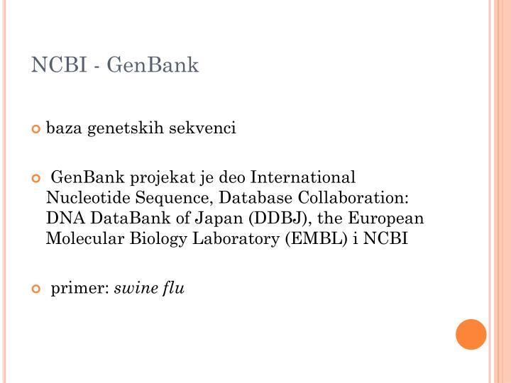 NCBI - GenBank