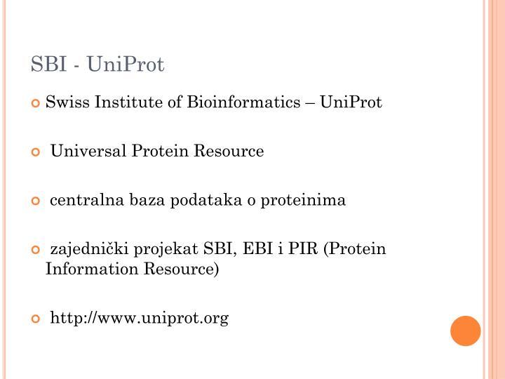 SBI - UniProt