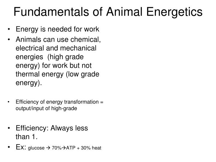 Energy is needed for work
