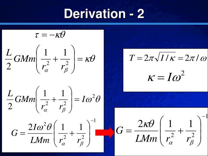Derivation - 2