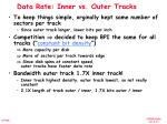 data rate inner vs outer tracks