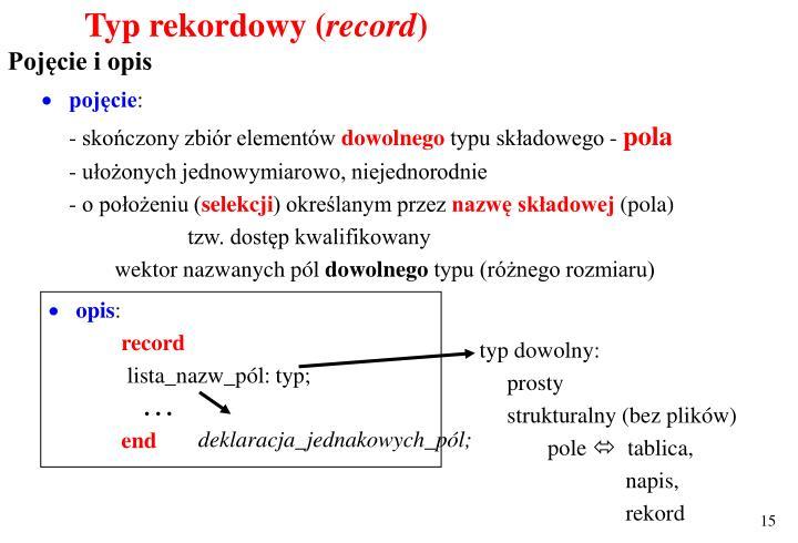 Typ rekordowy (