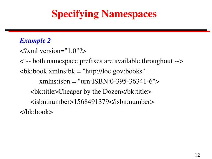 Specifying Namespaces