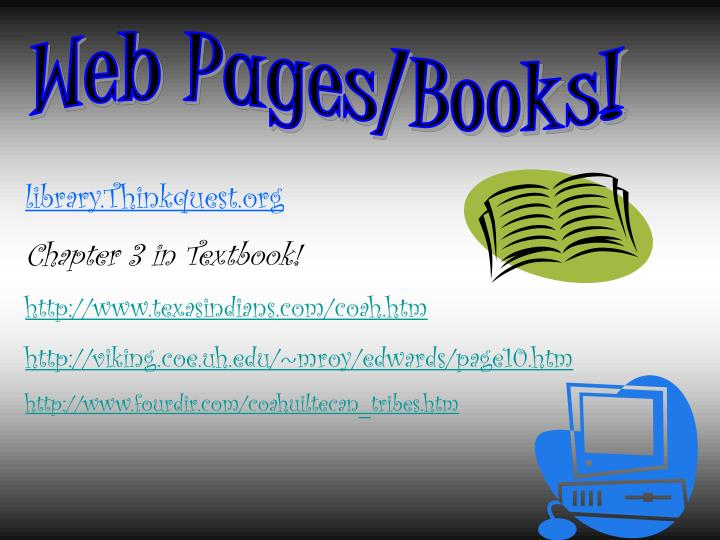 Web Pages/Books!