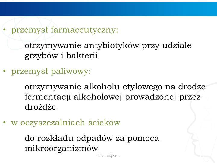przemysł farmaceutyczny: