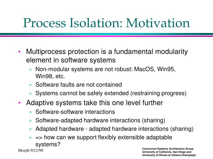 Process Isolation: Motivation
