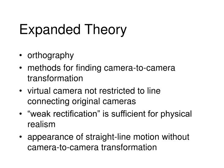 Expanded Theory
