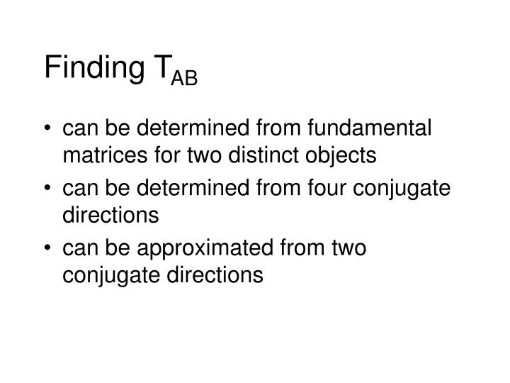 Finding T