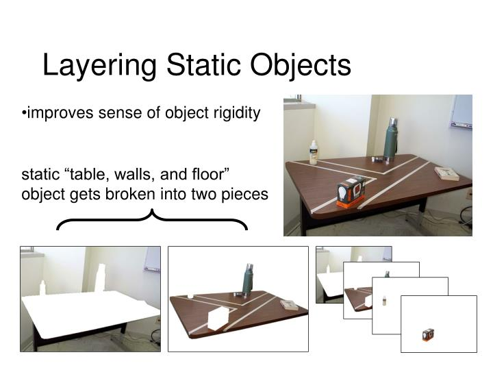 Layering Static Objects