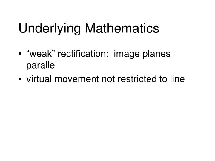 Underlying Mathematics