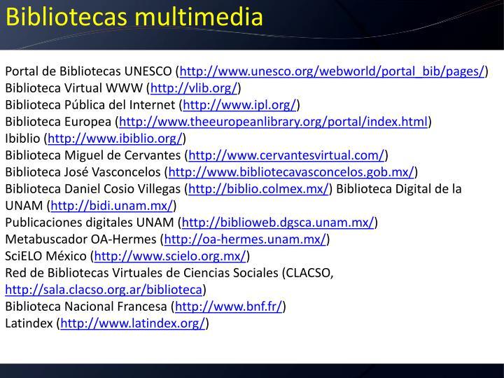 Portal de Bibliotecas UNESCO (