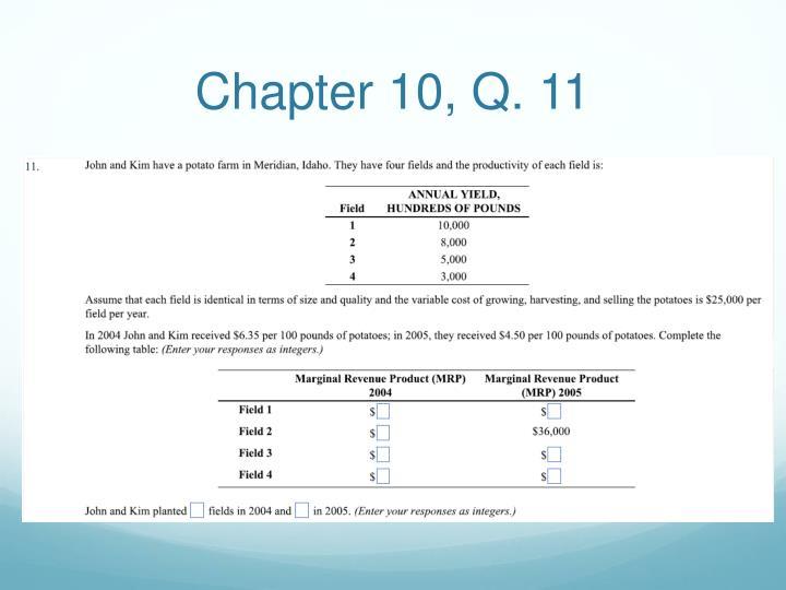 Chapter 10, Q. 11