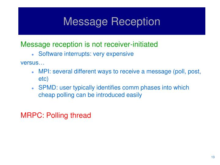 Message Reception