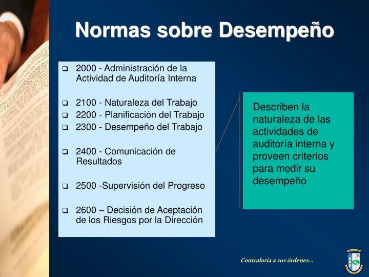 2000 - Administración de la Actividad de Auditoría Interna