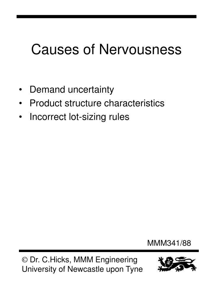 Causes of Nervousness