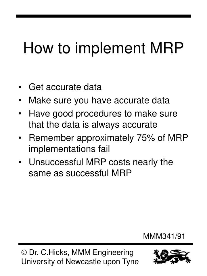 How to implement MRP