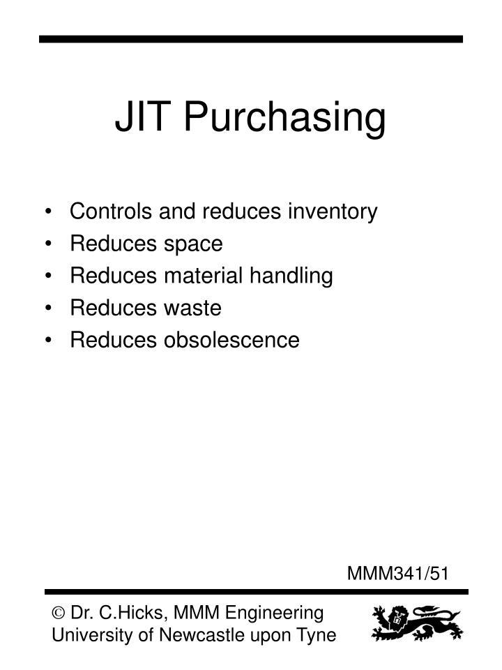JIT Purchasing
