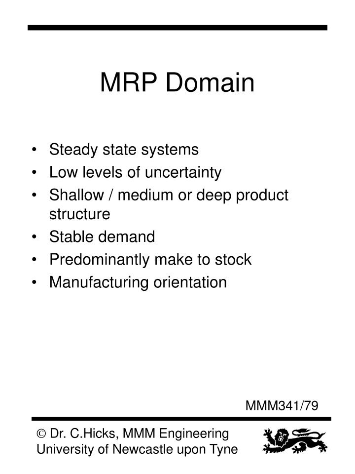 MRP Domain