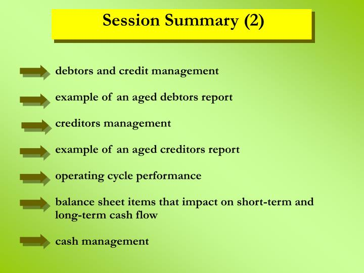debtors and credit management