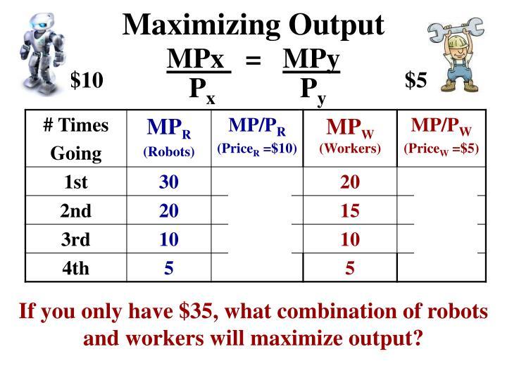 Maximizing Output