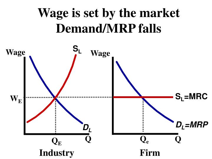 Wage is set by the market