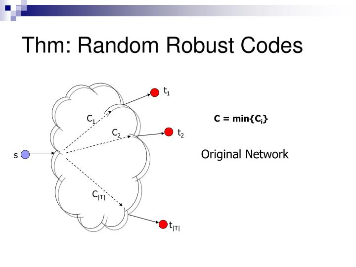 Thm: Random Robust Codes