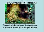 biodiversity threat