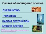 causes of endangered species
