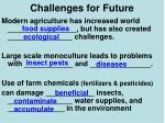 challenges for future