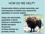 how do we help1