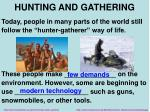 hunting and gathering1