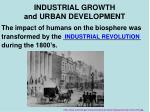 industrial growth and urban development