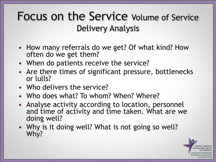 Focus on the Service