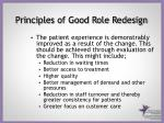 principles of good role redesign1