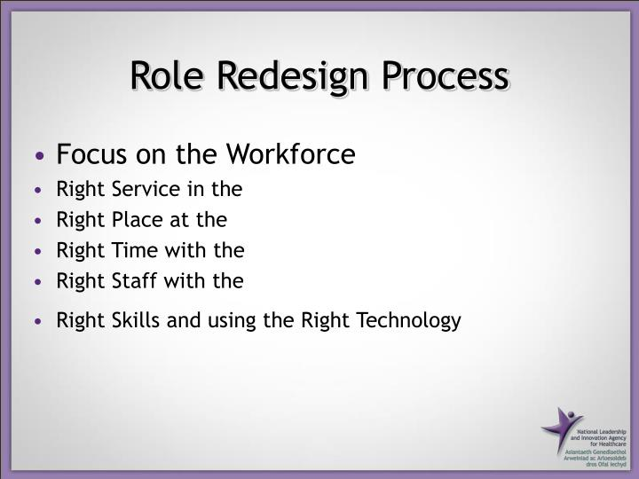 Role Redesign Process