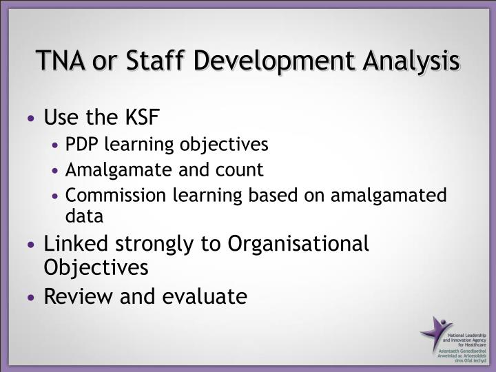 TNA or Staff Development Analysis