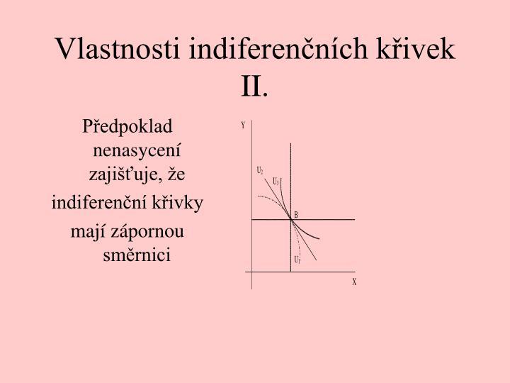 Vlastnosti indiferenčních křivek II.