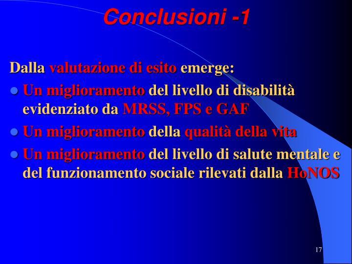 Conclusioni -1