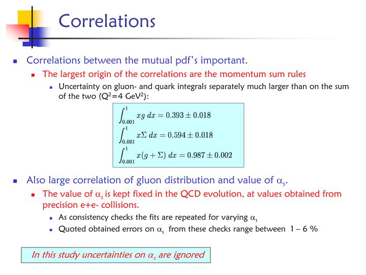 Correlations between the mutual pdf's important.