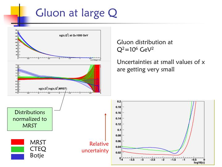 Gluon at large Q