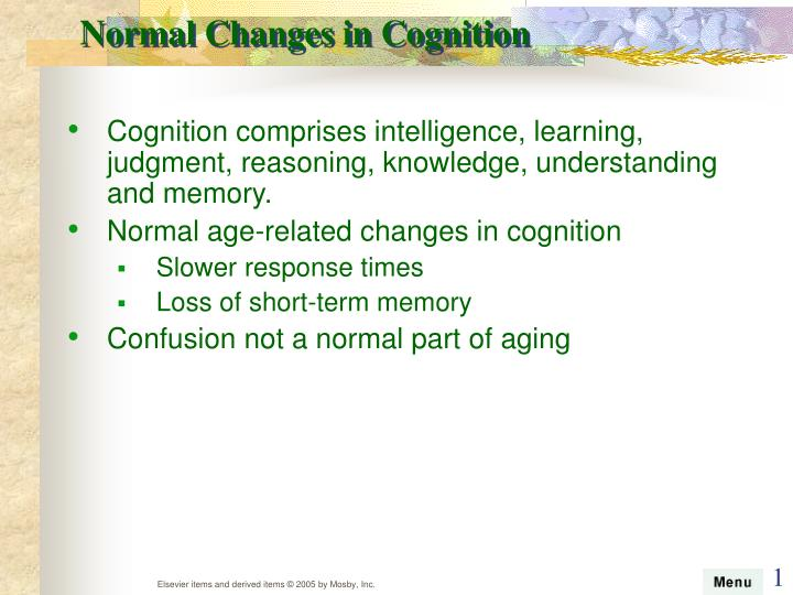 Normal Changes in Cognition